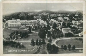 Slovakia Štátne Kúpele Sliač Sliace 1940s panorama postcard