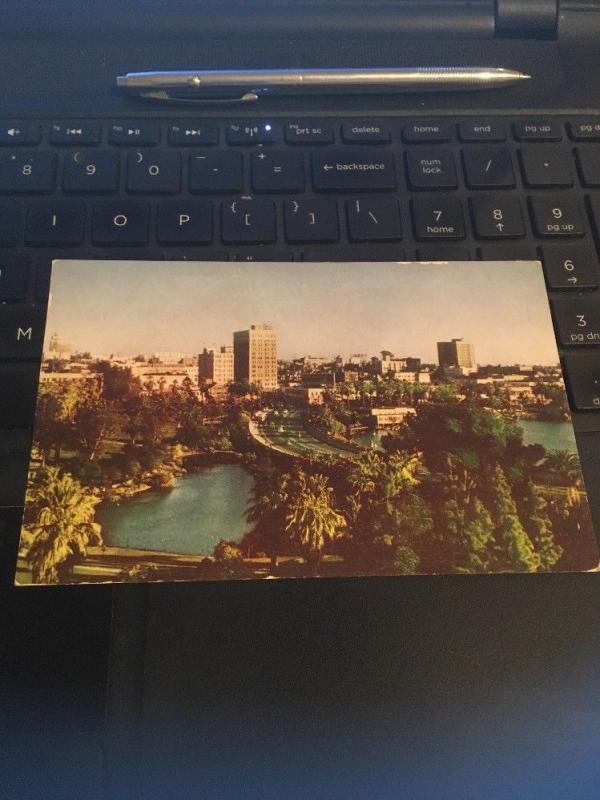Vtg Postcard: Wilshire Blvd, Los Angeles Wesco Spectratone color card