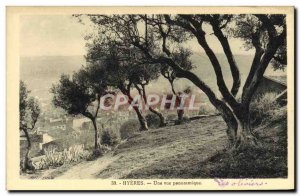 Old Postcard Hyeres A Panoramic View