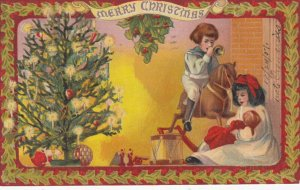 CHRISTMAS ; Kids , Toys & Tree , 1907