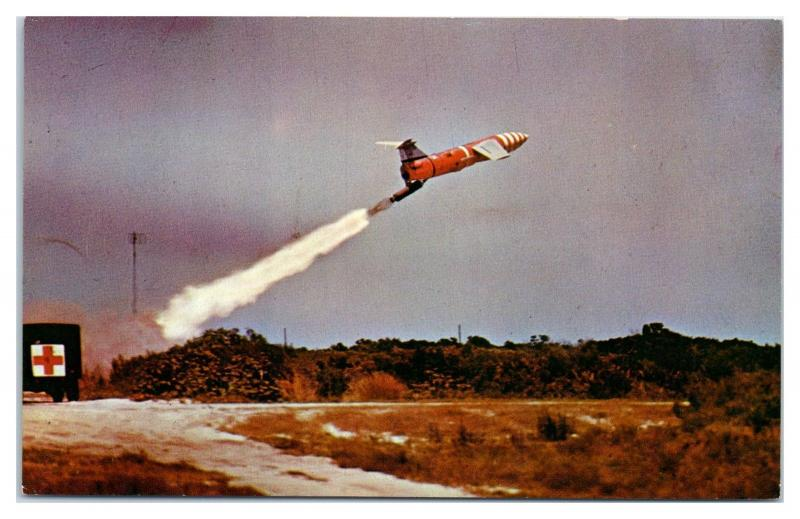 1950s/60s US Air Force MGM-1 Matador Missile Launch Postcard