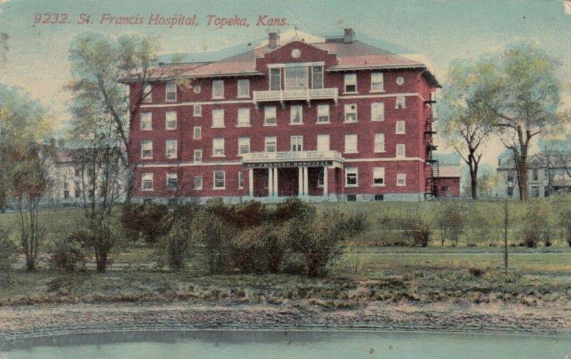 TOPEKA, Kansas, 1900-10s; St. Francis Hospital
