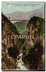 Old Postcard Cusy Route d Aix les Bains in Bauges The Bridge of the Abyss on ...