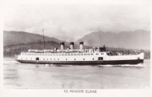 RP, Steamer/Oceanliner, S. S. Princess Elaine, 1920-40s