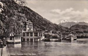 Switzerland Vitznau Hotel Rigi-Bahn 1948 Photo