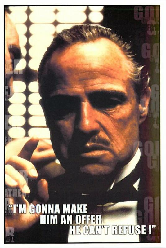 Postcard Of The Godfather Movie An Offer He Cant Refuse 1