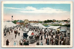 Brockton MA Fair~Fakirs On Midway~Spruce Beer Wagon 5c~Edson's Smoke House~1919