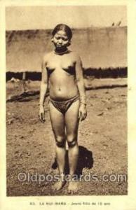 La Nui Bara African Nude Nudes, Old Vintage Postcard Post Card  La Nui Bara