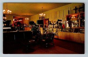 Mount McKinley / Denali AK-Alaska, McKinley Park Hotel Lobby, Chrome Postcard