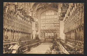 St George's Chapel Windsor Castle England unused c1920's
