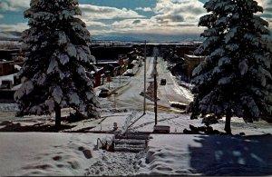 California Susanville Main Street Winter Scene
