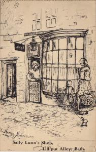 AS, Sally Lunn's Shop, Lilliput Abbey, BATH (Somerset), England, UK, PU-1936