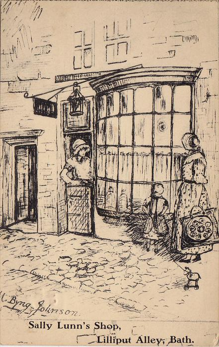 AS, Sally Lunn's Shop, Lilliput Abbey, BATH (Somerset), England, UK, PU-1936