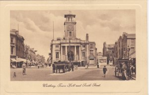 WORTHINGTON, Sussex, England, 1900-1910's; Town Hall And South Street