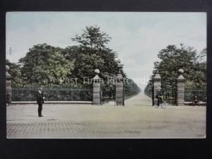 Lancashire PRESTON Moor Park Entrance Gates c1904 by The Wrench Series 11530
