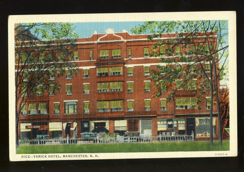 Manchester, New Hampshire/NH Postcard, Rice-Varick Hotel