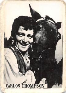 B70850 Carlos Thompson horse chaveaux actors acteurs 5x3cm
