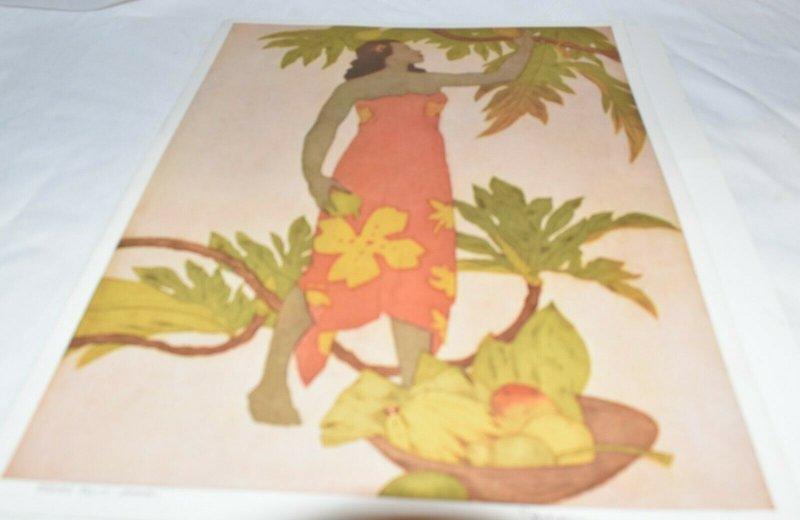 Bread Fruit, Hawaii, Illustrated by John Kelly, Royal Hawaiian Menu 1948