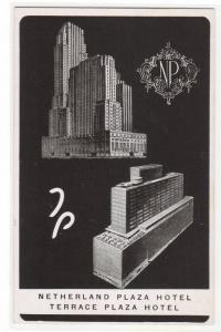 Netherland & Terrace Plaza Hotels Cincinnati Ohio postcard
