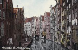 AMSTERDAM, O. Z. Achterburgwal, Bridge, Water Streets, North Holland, Netherl...