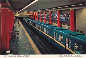 Canada McGill Metro Station Montreal