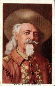 Postcard Col William Cody Buffalo Bill Portrait Posted 1948