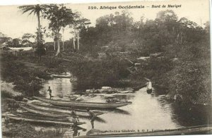 CPA AK Sénégal Afrique Fortier 520. Bord de Marigot (67592)