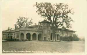 Atascader Ohio Church Living Word 1935 RPPC Photo Postcard Brakes 4509