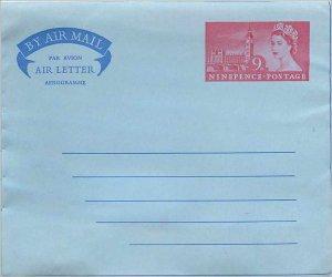 Entier Postal Stationery Postal Aerogramme Aeogram Britain Great Britain 9d