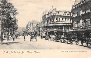 South Africa Cape Town, Adderley St. Carriages, Tram, animated