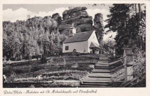 Hochstein Mit St. Michaelskapelle Und Ehrenfriedhof, Dahn (Rhineland-Palatina...