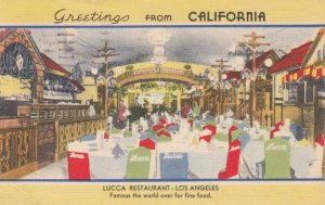 LOS ANGELES, California , 30-40s ; Lucca Restaurant, Dining Room