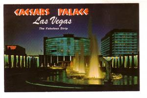 Caesars Palace at Night with Fountains, Jay Moore, Las Vegas, Nevada, Ferris ...
