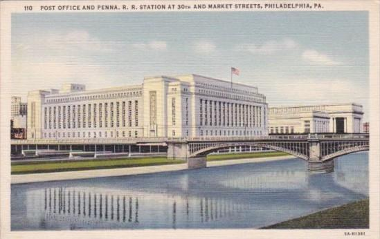 Post Office and Pennsylvania Railroad Station 30th and Market Streets Philade...