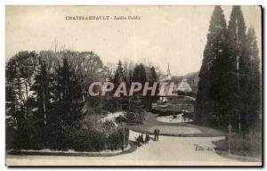 Chatellerault Old Postcard Public Garden