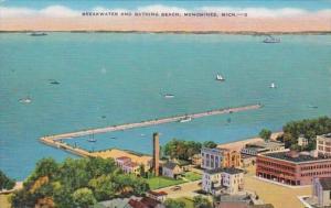 Michigan Menominee Breakwater and Bathing Beach