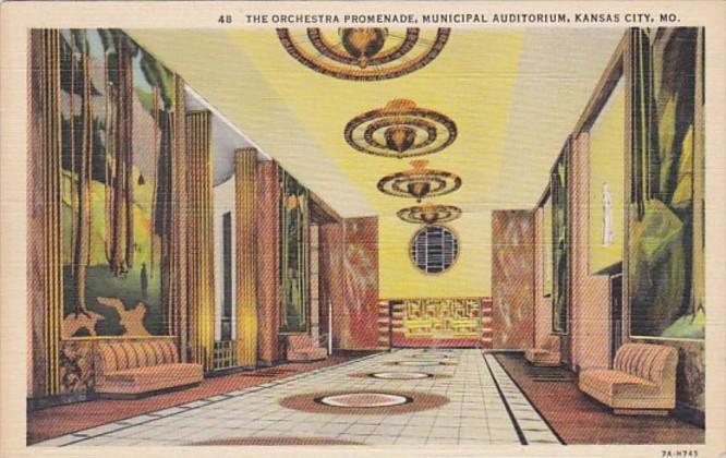Missouri Kansas City Orchestra Promenade Municipal Auditorium Curteich