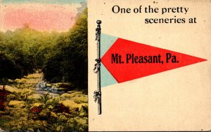 Pennsylvania Mt Pleasant One Of The Pretty Sceneries Pennant Series