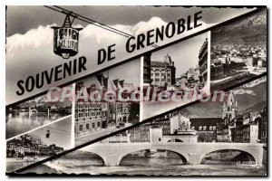 Old Postcard Souvenir From Grenoble