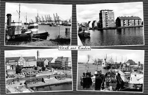 Gruss aus Emden Hafen Schiff Boats Port Bateaux Panorama Promenade