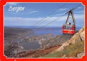 Norway Bergen Ulriken Cable car General view Panorama