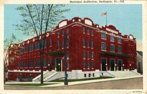 VT - Burlington. Municipal Auditorium