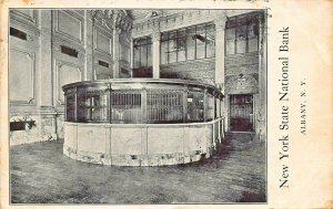 ALBANY NEW YORK~STATE NATIONAL BANK-INTERIOR VIEW~1909 ADVERTISING POSTCARD