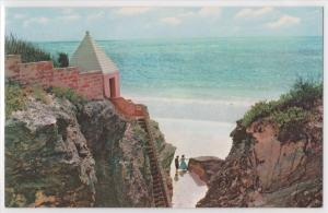Pan Am Panam Airlines Issued Bermuda Secluded Cove White Beach Postcard