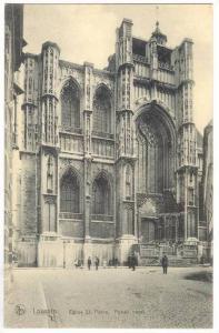 Eglise St. Pierre, Portail Ouest, Louvain (Flemish Brabant), Belgium, 1900-1910s