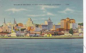 California San Diego Skyline As Seen From Coronado