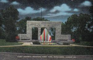 Kansas Hutchinson Carey Memorial Fountain Carey Park