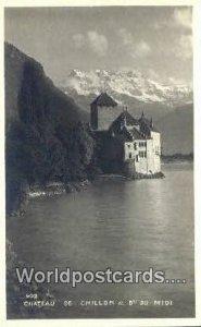 Real Photo Chateau de Chillon, France, Carte, Unused