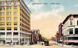 UT - Ogden. Twenty Fourth Street, Trolley