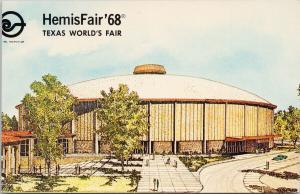 Hemisfair 68 World's Fair 1968 San Antonio Texas Arena Unused Postcard F2